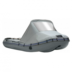 Фото носового тента с окном на лодку Altair HD 380 НДНД с фальшбортом